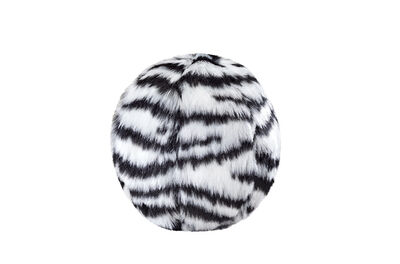 Fluff  Tuff Zebra Ball Dog Toy, Small