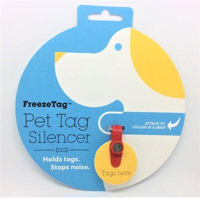 FreezeTag Pet Tag Holder, Red