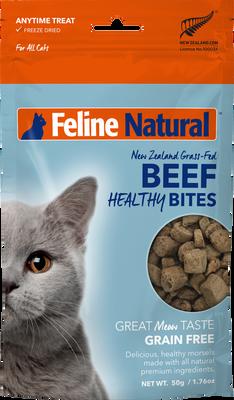 Feline Natural Healthy Bites Beef Cat Treat, 1.76-oz