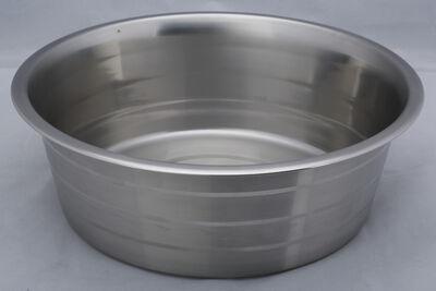 Indipets Standard Dog Bowl, Silver Striped, 96-oz