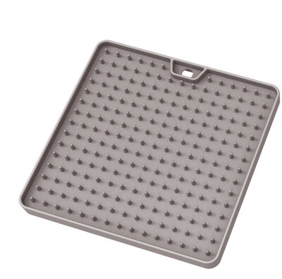 Messy Cats Silicone Reversible Interactive Feeding  Licking Mat, Grey