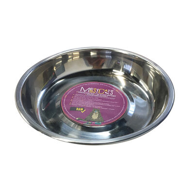 Messy Cats Stainless Steel Cat Bowl
