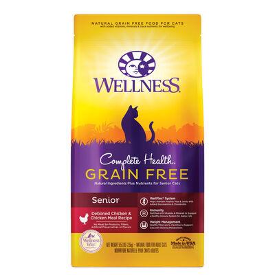 Wellness Complete Health Chicken  Deboned Chicken Grain-Free Senior Dry Cat Food, 5.5-lb