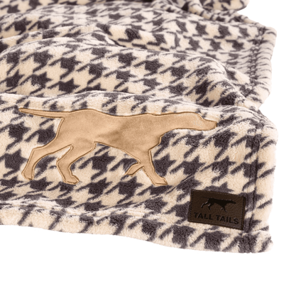 Tall Tails Dog Blanket, Houndstooth, 30-in x 20-in