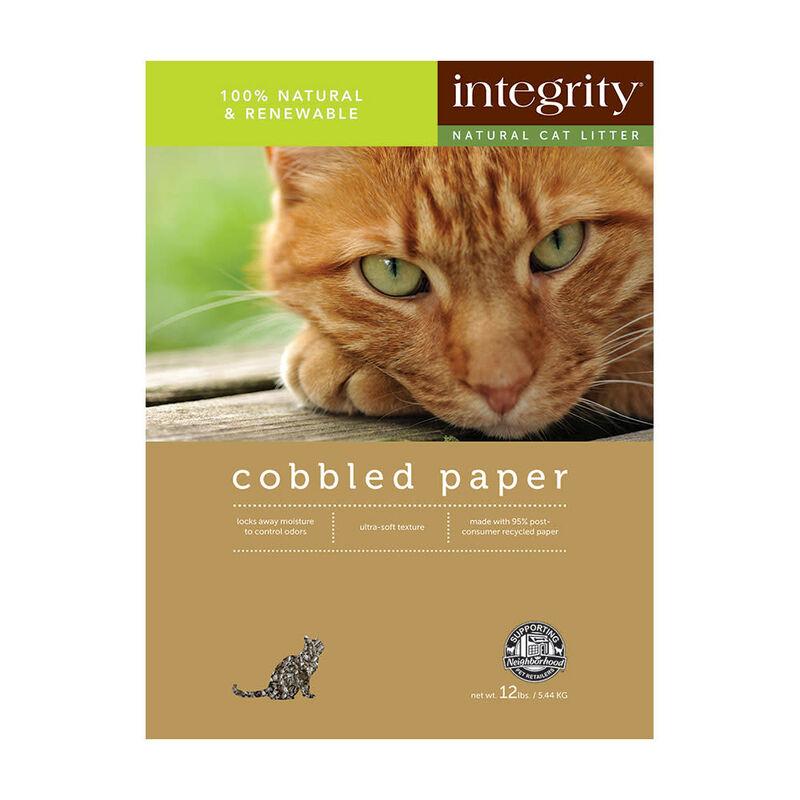 Integrity Cobbled Paper Cat Litter, 12lb