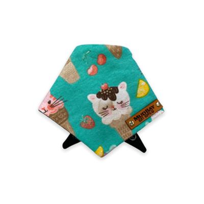 Mud Bay Cat Bandana, Birthday Kitty Ice Cream Cones, X-Small