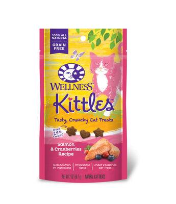 Wellness Kittles Grain-Free Salmon  Cranberries Recipe Crunchy Cat Treats, 2-oz bag