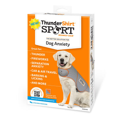 ThunderShirt SPORT Platinum Anxiety  Calming Solution for Dogs, Heather Grey, X-Small