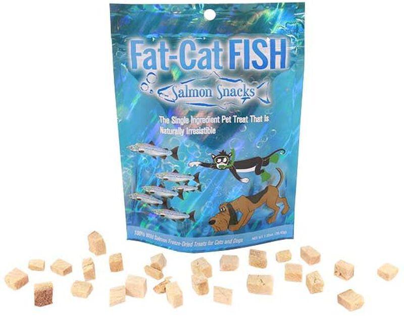 Fat-Cat Fish Wild Salmon Freeze-Dried Dog  Cat Treats, 1.25-oz
