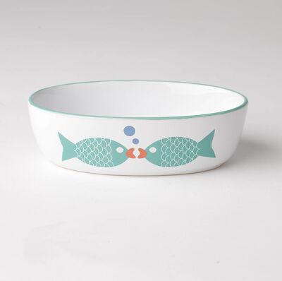 PetRageous Designs Bubble Fish Pet Bowl, 2-cup