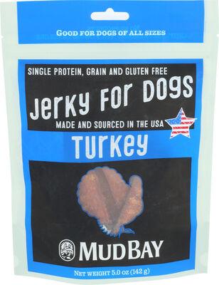 Mud Bay Turkey Jerky Dog Treat, 5-oz
