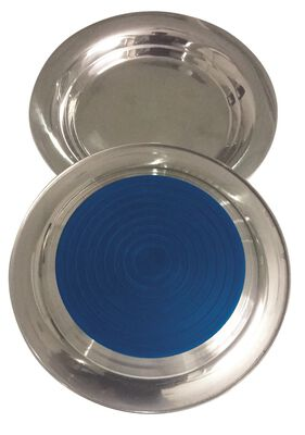 Indipets Stainless Steel No-Slip Heavyweight Cat Plate