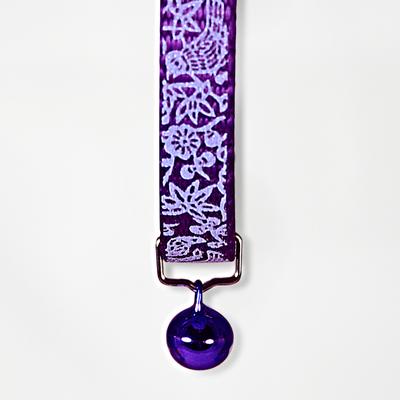 Goli Design Flora  Fauna Reflective Cat Collar, Purple
