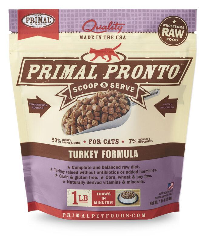 Primal Pronto Raw Turkey Frozen Cat Food, 1-lb