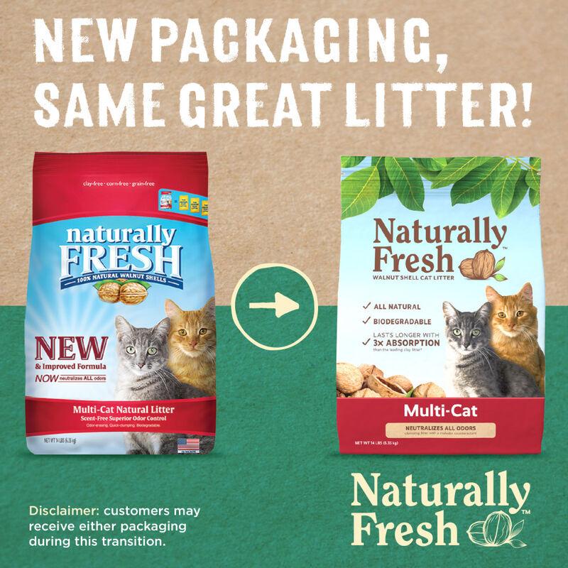 Naturally Fresh Multi-Cat Walnut Shell Cat Litter, 14-lb