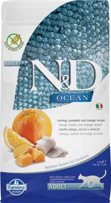 Farmina Namp;D Ocean Herring, Pumpkin amp; Orange Dry Cat Food, 3.3-lb