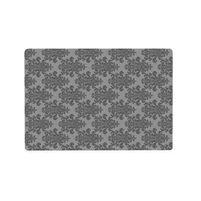 Time To Roar Deluxe Textured Microfiber Mat, Grey Filligree, Large