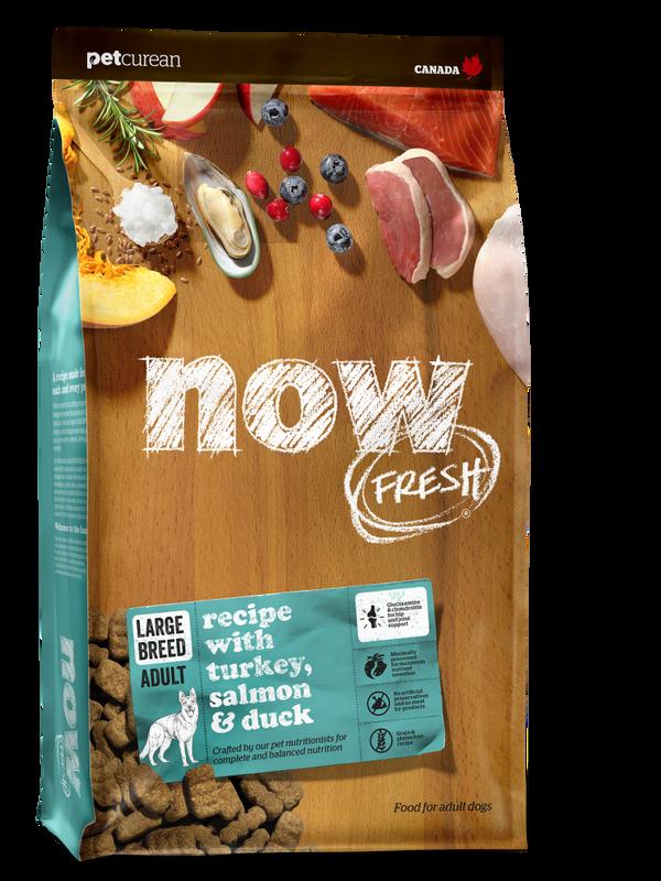 NOW FRESH Turkey, Salmon  Duck Large Breed Grain-Free Dry Dog Food, 25-lb