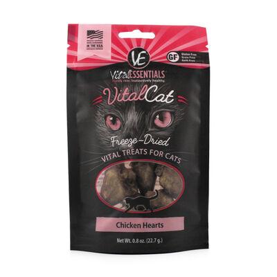 Vital Essentials Vital Cat Treats Chicken Hearts Freeze-Dried Cat Treats, 0.8-oz bag