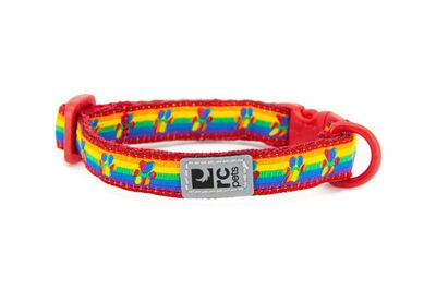 RC Pet Products Breakaway Cat Collar, Rainbow Paws