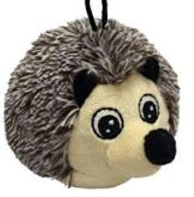 Petlou EZ Squeaky Hedgehog Ball Dog Toy, 4-in