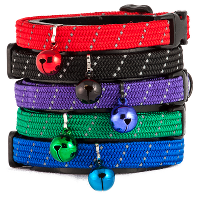 Buddy Cat Reflective Full Stretch Cat Collar, Purple