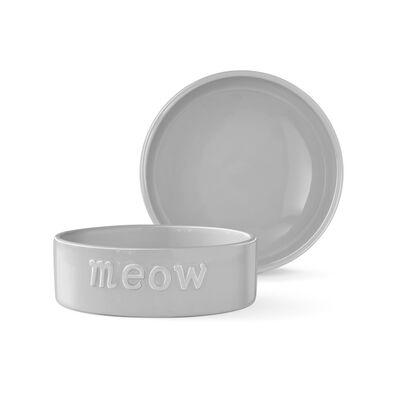 """Fringe Pet Studios Sculpt """"Meow"""" Cat Bowl, Small"""