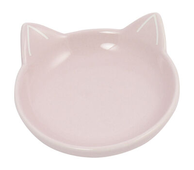Winifred  Lily Cat Silhouette Cat Dish, Blush