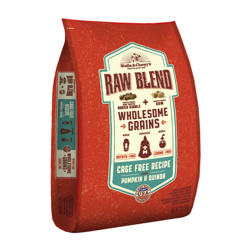Stella  Chewys Raw Blend Wholesome Grains Cage Free with Pumpkin  Quinoa
