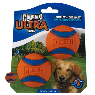 Chuckit! Ultra Rubber Ball Dog Toy, 2 pack, Medium, 2 pack