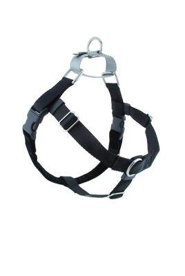 2 Hounds Design Freedom No-Pull Dog Harness, Black, Medium, 1-in