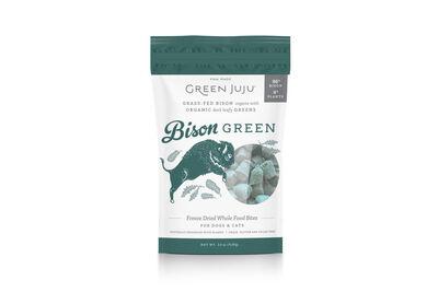 Green Juju Bison Green Freeze-Dried Dog  Cat Treats, 2.5-oz