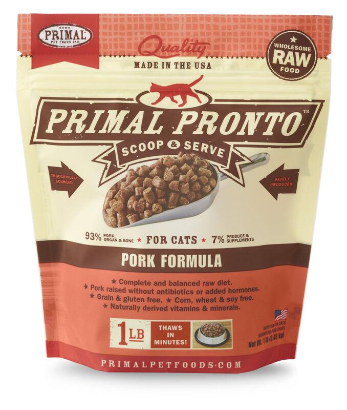 Primal Pronto Raw Pork Frozen Cat Food, 1-lb