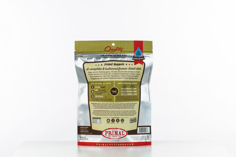 Primal Venison Nuggets Grain-Free Raw Freeze-Dried Cat Food, 5.5-oz