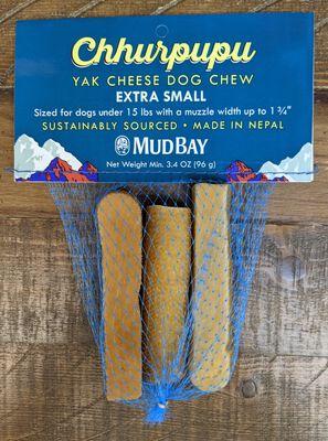 Mud Bay Chhurpupu Yak Chew Dog Treats, X-Small, 3-pk