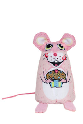 Fuzzu Sweet Baby Mice Cupcake Cat Toy