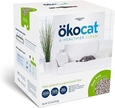 Healthy Pet Okocat Dust-Free Paper Non-Clumping Cat Litter, 12.3-lb