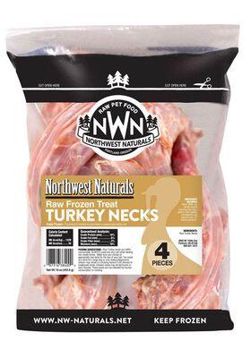 Northwest Naturals Raw Frozen Turkey Neck Bone Dog Treats, 4-pk