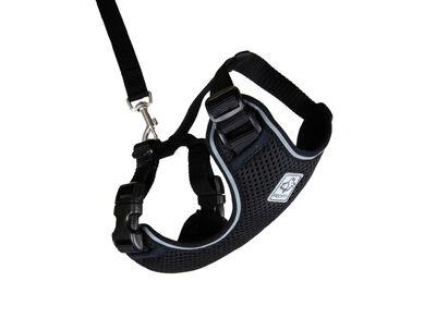 RC Pet Products Adventure Kitty Harness, Black, Medium