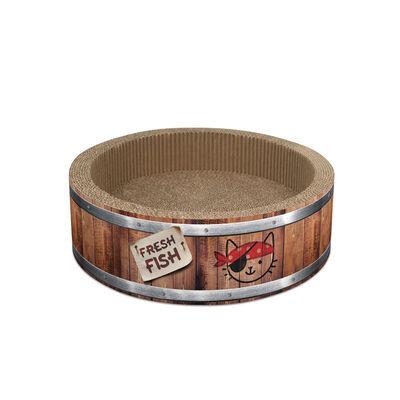 Catit Pirates Barrel with Catnip Cat Scratcher, Large