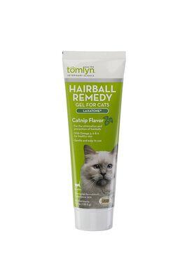 Tomlyn Laxatone Hairball Remedy Catnip Flavor Gel Cat Supplement, 4.25-oz