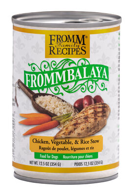 Fromm Family Recipes Frommbalaya Chicken, Vegetable,  Rice Stew Canned Dog Food, 12.5-oz