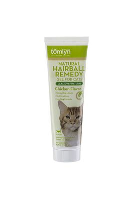 Tomlyn Laxatone Natural Hairball Remedy Chicken Flavor Gel Cat Supplement, 4.25-oz