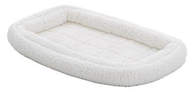 MidWest Quiet Time Deluxe Double Bolster Pet Bed, Fleece, 24-in