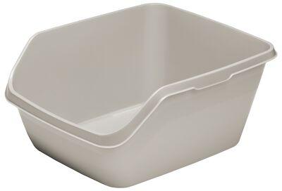 Moderna HyCat Cat Litter Pan, Grey, Large