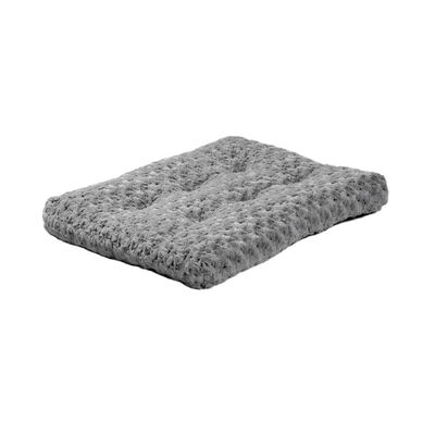 MidWest Quiet Time Ombre Swirl Dog  Cat Bed, Grey, 30-in