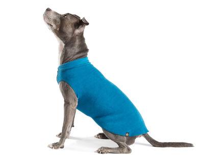 Gold Paw Stretch Fleece Marine Blue Dog Coat, 26