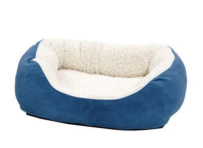 Midwest Quiet Time Cuddle Bed for Cats  Dogs, Blue, Small