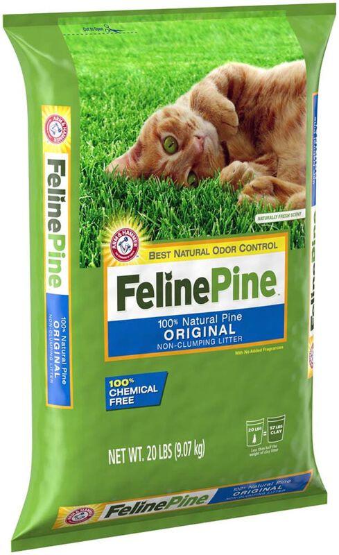 Feline Pine Original Non-Clumping Pellet Cat Litter, 20-lb