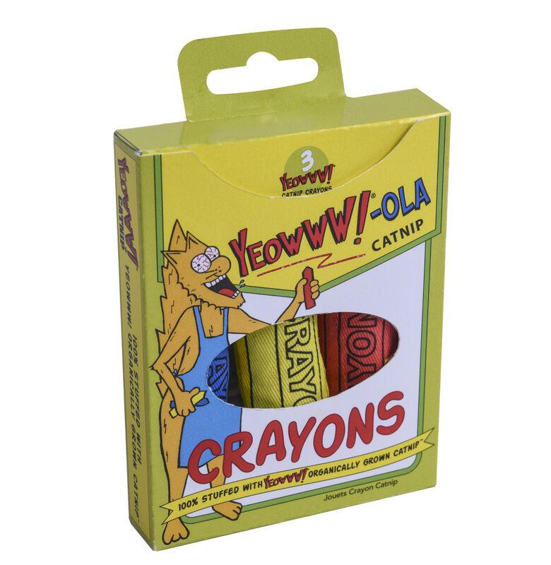 Yeowww!-OLA Catnip Crayons, 3-pack